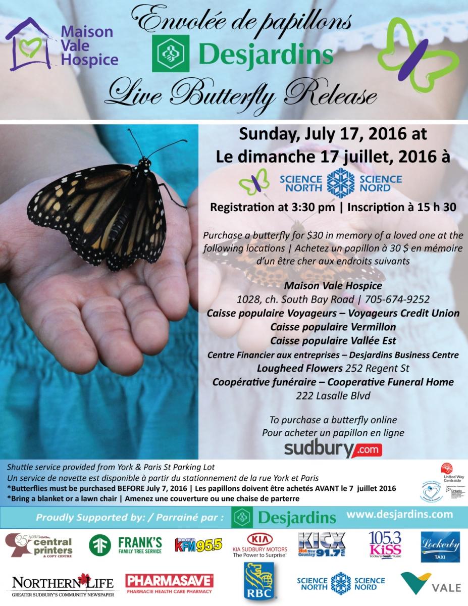 Envolée de papillons Desjardins Live Butterfly Release