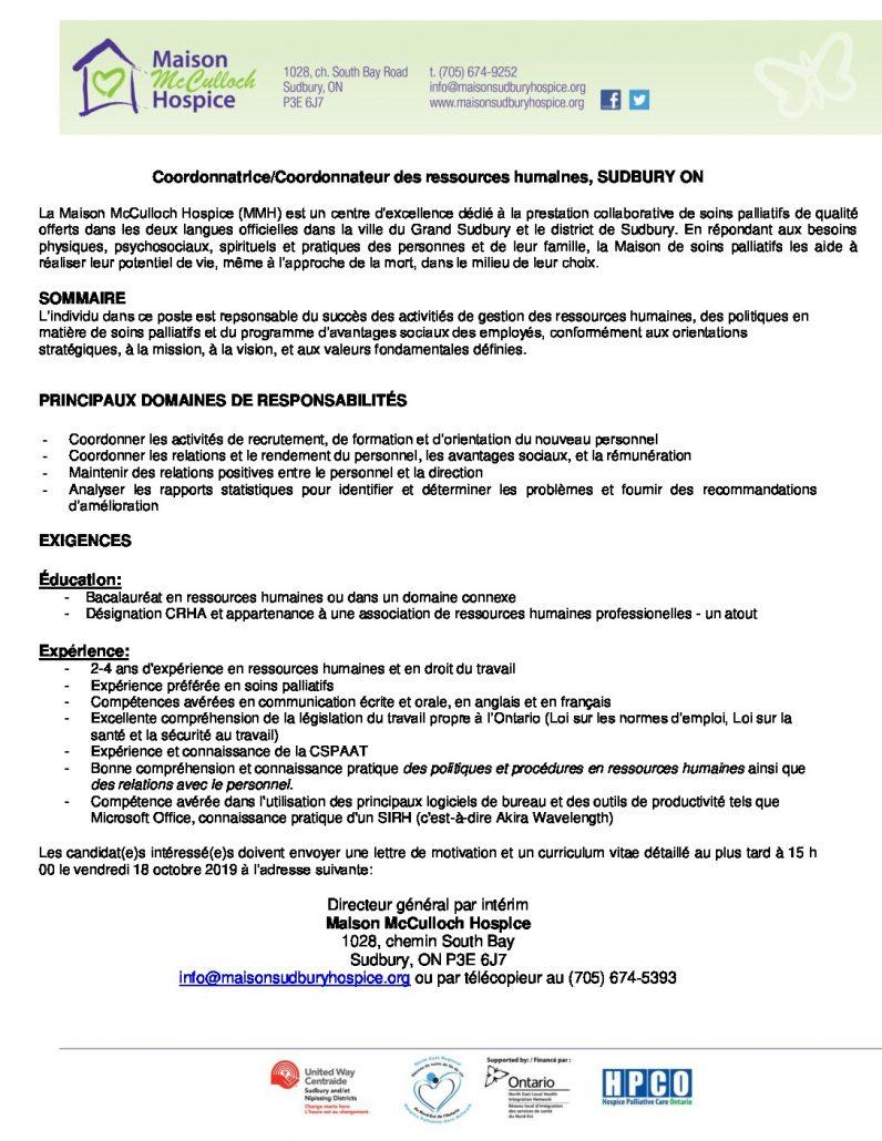 thumbnail of HR Coordinator_ Job Posting_FR