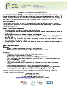 thumbnail of Manager of Admin Services_ Job Posting_English