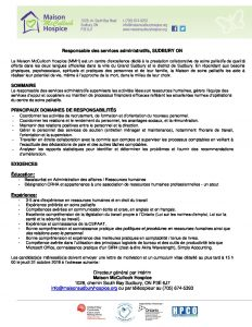 thumbnail of Manager of Admin Services_ Job Posting_FR